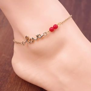 Jewelry - 🆕 Cute Gold Tone Love Anklet